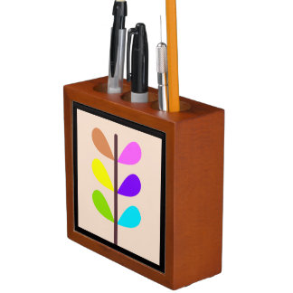 Plant Colourful Abstract Desk Organizer