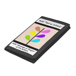 Plant Colourful Abstract Tri-fold Wallet