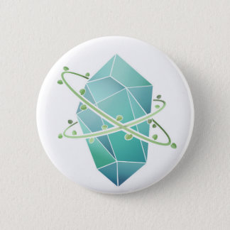 Plant Crystal 2 Inch Round Button