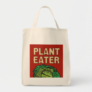 Plant Eater retro vegetarian vegan Tote Bag