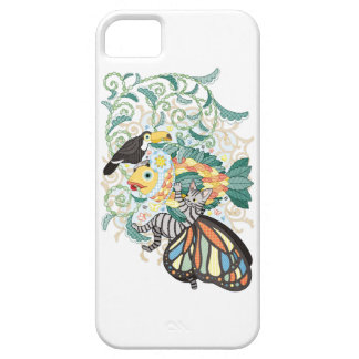 Plant fish and Butterfly cat and Toco toucan iPhone 5 Cases
