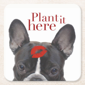 """""""Plant it here"""" paper coasters"""