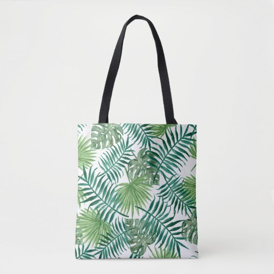 Plant Leaves Print Tote Bag