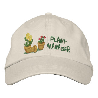 Plant Manager Embroidered Hat