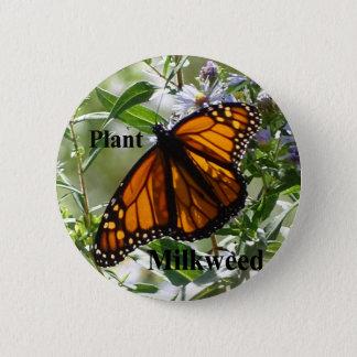 Plant Milkweed 2 Inch Round Button