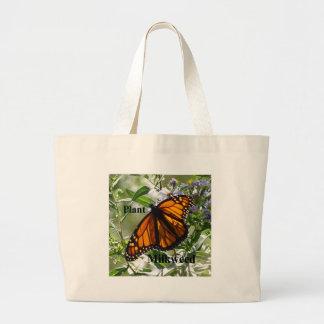 Plant Milkweed Large Tote Bag