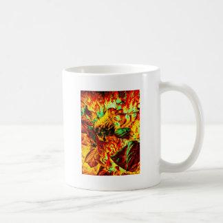 plant on fire coffee mug