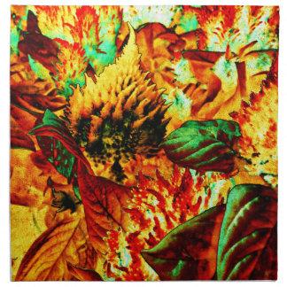 plant on fire napkin