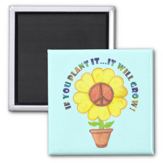 Plant Peace Magnet