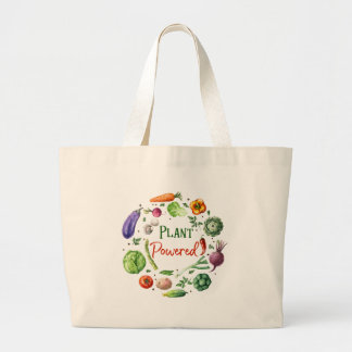 Plant-Powered Designs Large Tote Bag