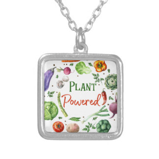 Plant-Powered Designs Silver Plated Necklace