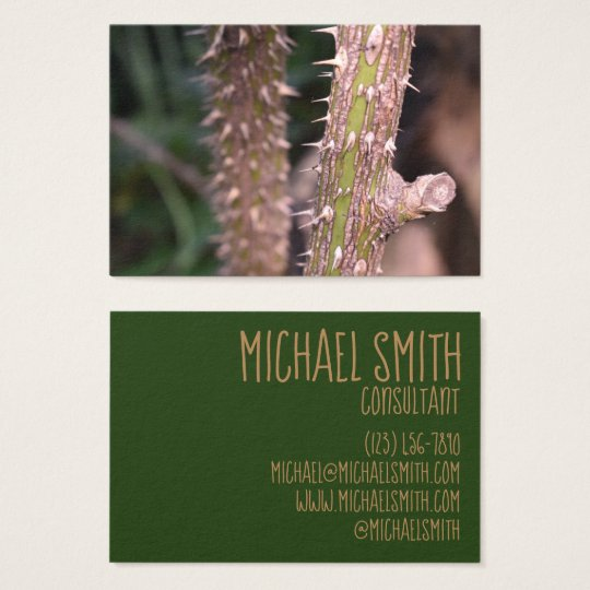 Plant Stem Thorns Nature Park Photography Business Card