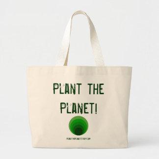 Plant the Planet! planttheplanetstuff.com Large Tote Bag