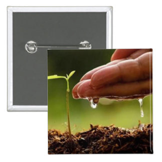 Plant trees 2 inch square button