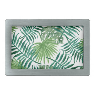 Plant Tropical Botanical Palm Leaf Belt Buckle