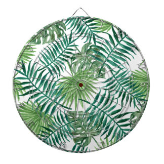 Plant Tropical Botanical Palm Leaf Dartboard