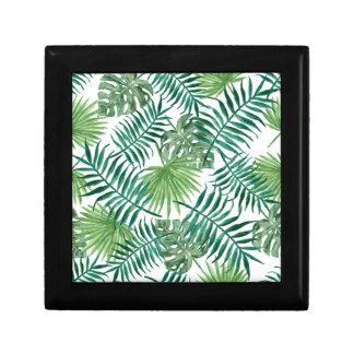 Plant Tropical Botanical Palm Leaf Gift Box