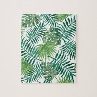 Plant Tropical Botanical Palm Leaf Jigsaw Puzzle