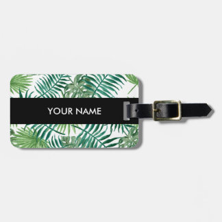 Plant Tropical Botanical Palm Leaf Luggage Tag