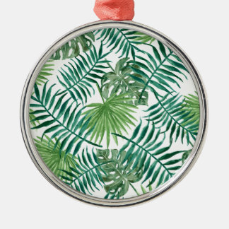 Plant Tropical Botanical Palm Leaf Metal Ornament
