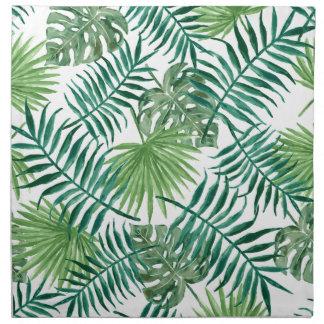 Plant Tropical Botanical Palm Leaf Napkin