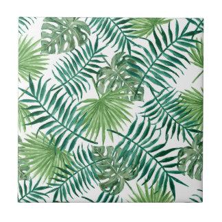 Plant Tropical Botanical Palm Leaf Tile