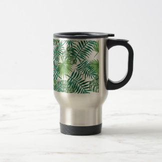 Plant Tropical Botanical Palm Leaf Travel Mug