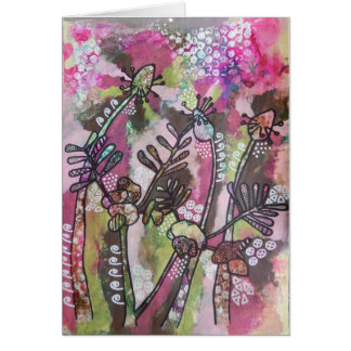 Plantain and Vetch Whimsy Greeting Card