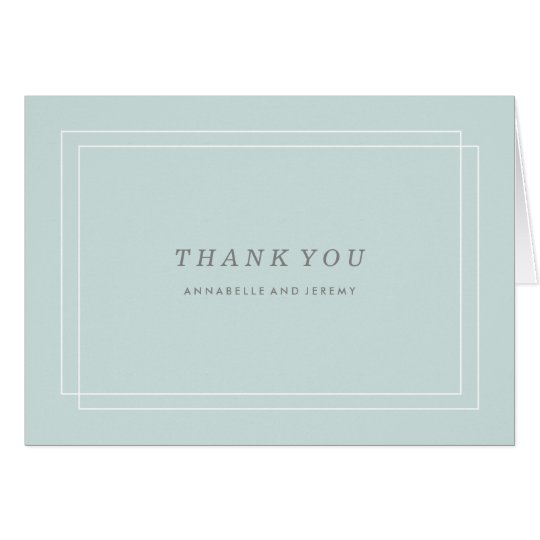 Plantation Thank You Card - Aqua