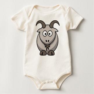 Plante grimpante grise de chèvre pour les bébés body pour bébé