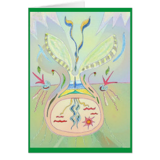 Planting Conscious Thought Seeds 3 x Art Card