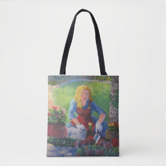 Planting Flowers Tote Bag