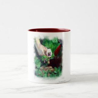Planting Pansies Two-Tone Coffee Mug