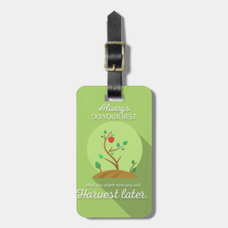 Planting what you will harvest green flat design bag tag