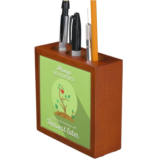 Planting what you will harvest green flat design desk organizers