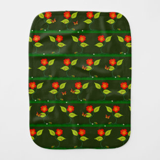 Plants and flowers baby burp cloth