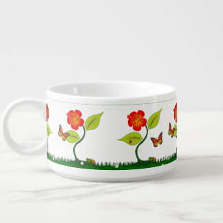 Plants and flowers bowl