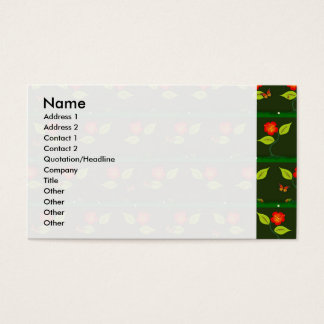 Plants and flowers business card