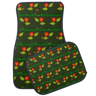 Plants and flowers car mat