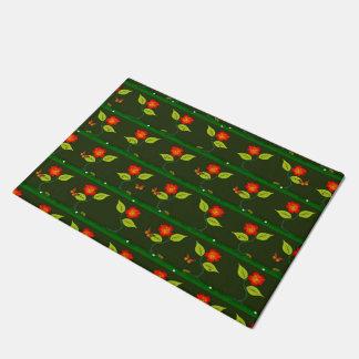 Plants and flowers doormat