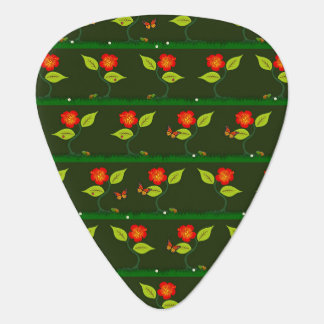 Plants and flowers guitar pick