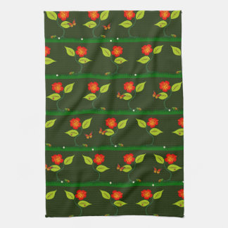 Plants and flowers kitchen towel