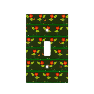 Plants and flowers light switch cover
