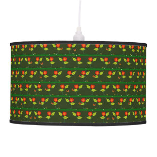 Plants and flowers pendant lamp
