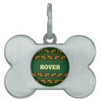 Plants and flowers pet ID tag