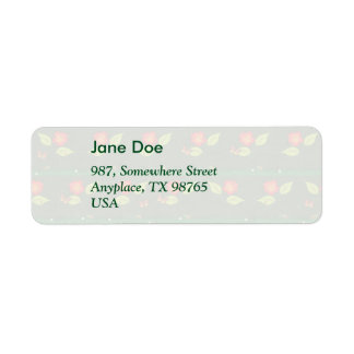 Plants and flowers return address label