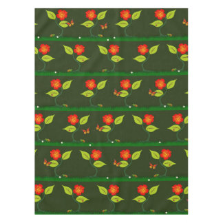 Plants and flowers tablecloth