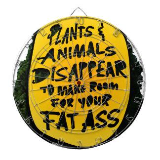 PLANTS & ANIMALS DISAPPEAR ...(YaWNMoWe®) Dartboard