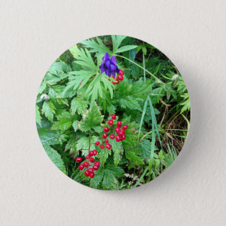 Plants at Pioneer Falls Butte Alaska 2 Inch Round Button
