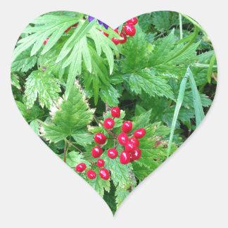 Plants at Pioneer Falls Butte Alaska Heart Sticker